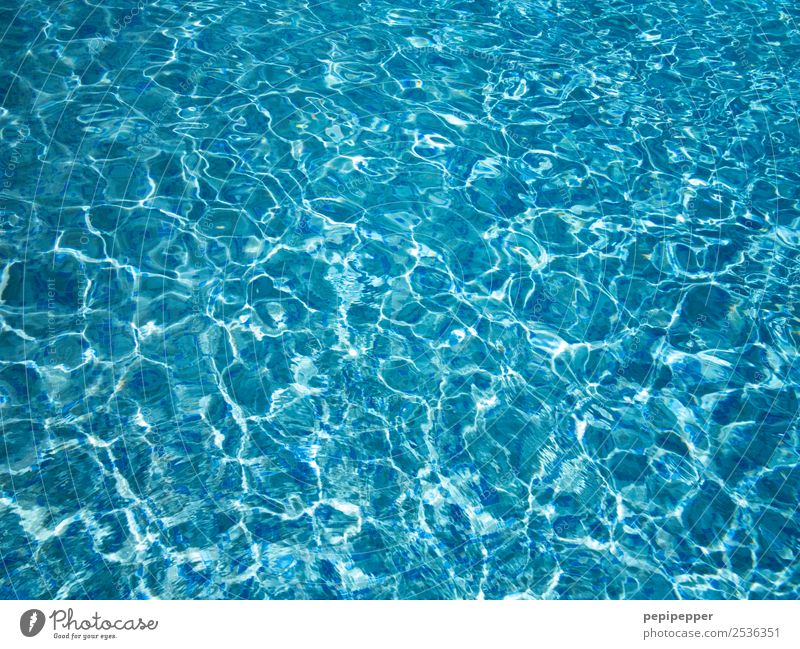 Water Leisure and hobbies Swimming & Bathing Vacation & Travel Waves Swimming pool Blue Colour photo Close-up Deserted Contrast Reflection Bird's-eye view
