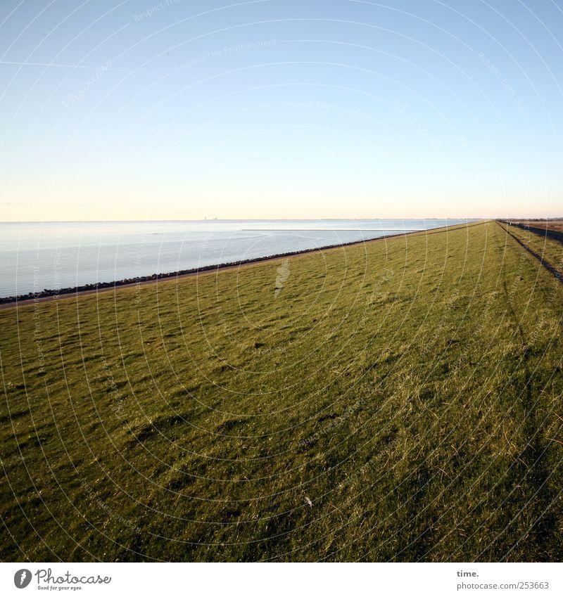 Sky Water Ocean Calm Meadow Environment Landscape Grass Happy Lanes & trails Moody Contentment Horizon Elegant Uniqueness North Sea