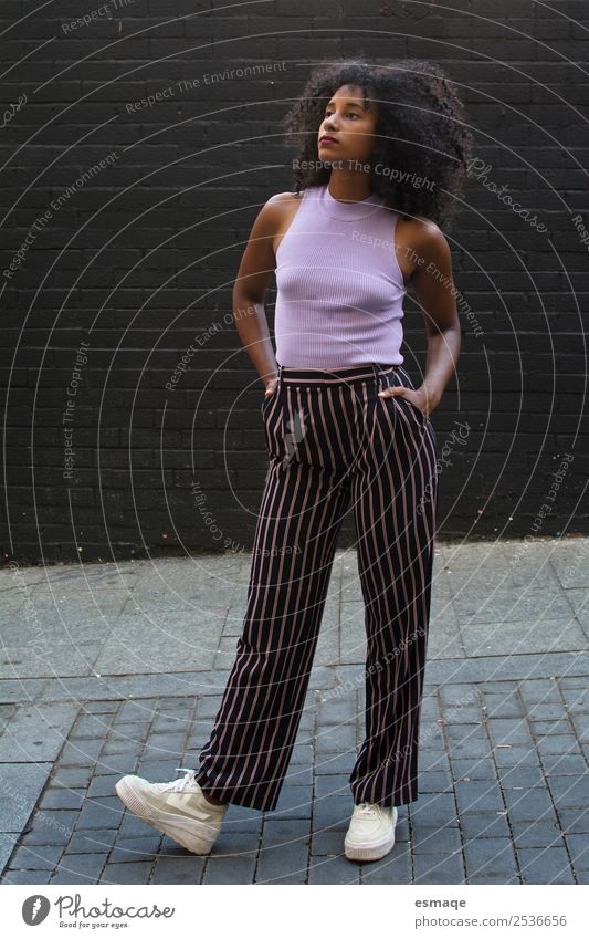 Portrait of urban woman Woman Youth (Young adults) Young woman Town Beautiful Black Lifestyle Adults Natural Tourism Fashion Trip Retro Modern Adventure
