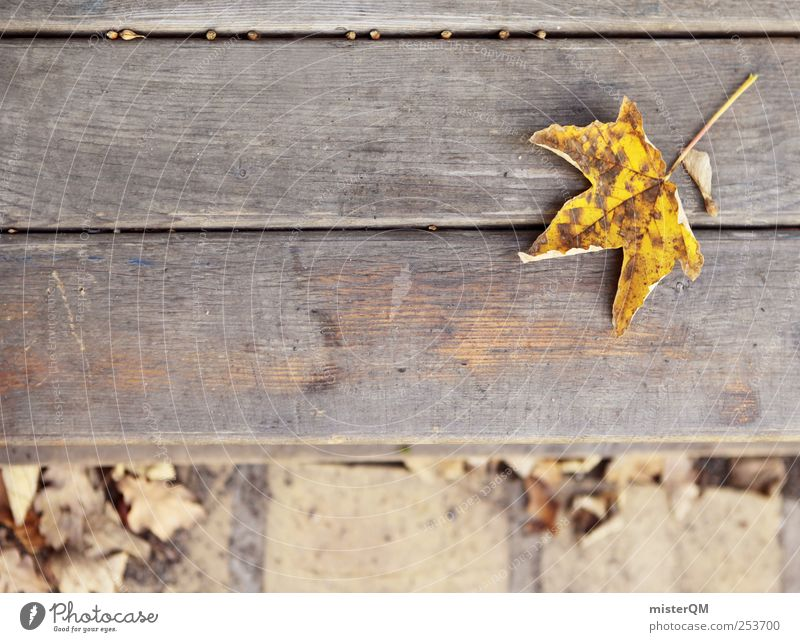 Leaf Yellow Autumn Art Contentment Esthetic Bench Idyll Under Autumn leaves Autumnal Decent Maple leaf Park bench Indifference Early fall