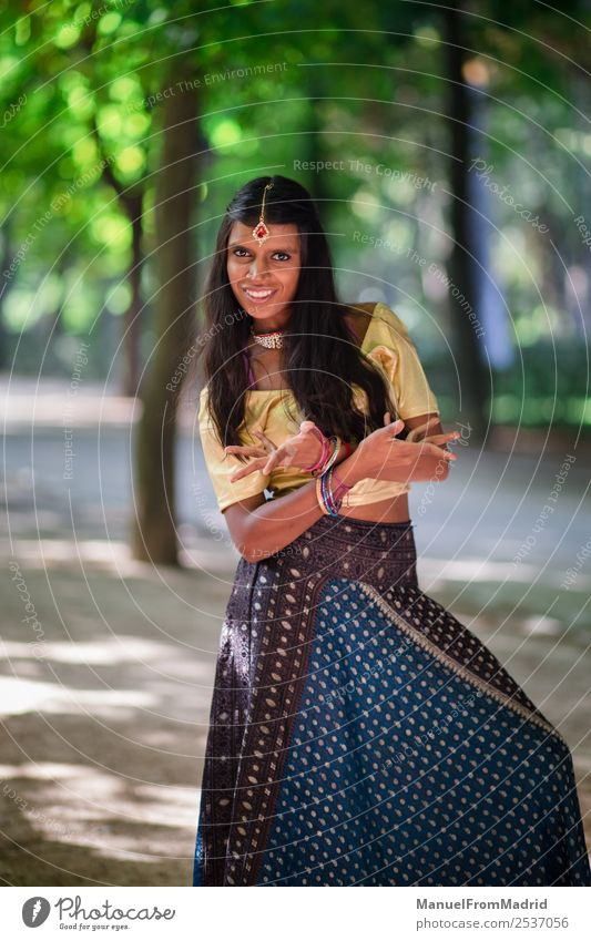 traditional indian woman portrait Happy Beautiful Woman Adults Hand Nature Park Fashion Clothing Dress Jewellery Smiling Gold Green Tradition Indian dancing