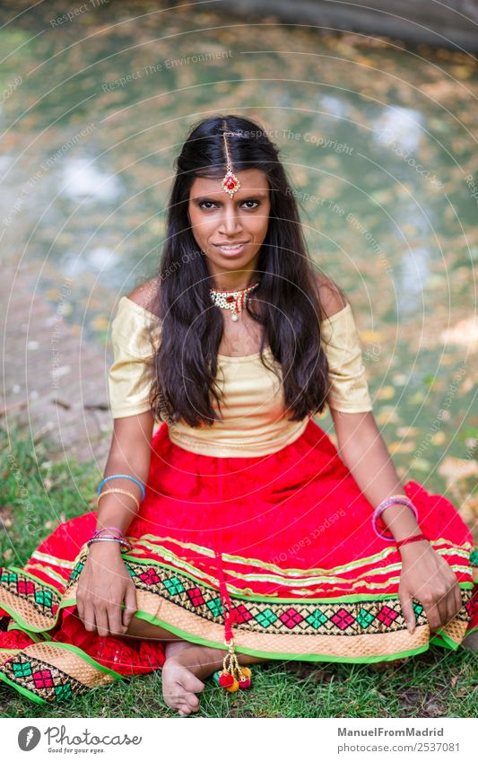 traditional indian woman portrait - a Royalty Free Stock Photo from
