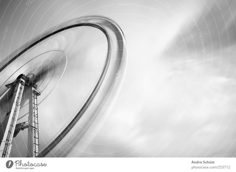 rotating 4 Joy Rotate Crazy Speed Surrealism Black & white photo Carousel Ferris wheel Fairs & Carnivals Long exposure Clouds Exterior shot Experimental