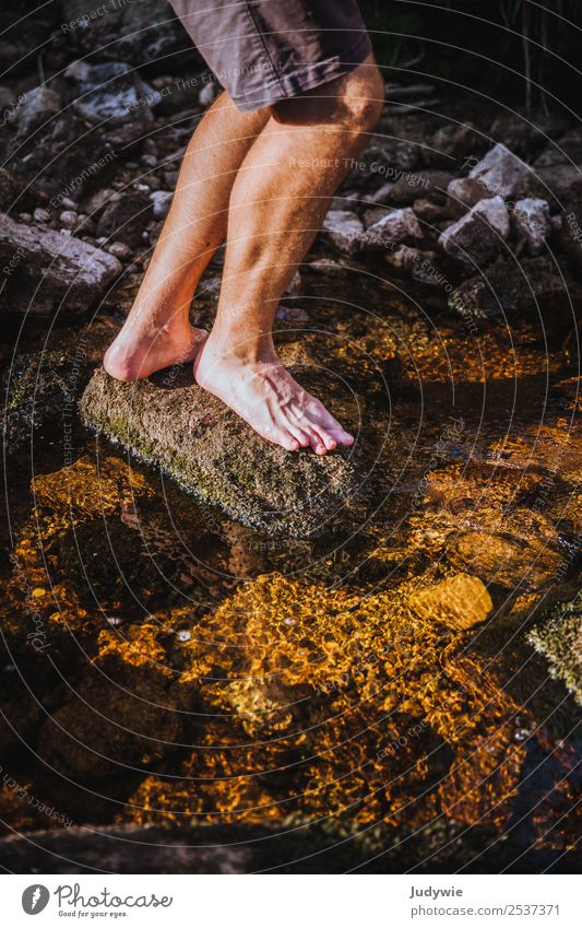 footbath Pedicure Life Senses Relaxation Swimming & Bathing Vacation & Travel Trip Adventure Freedom Camping Summer Hiking Human being Masculine Man Adults Legs