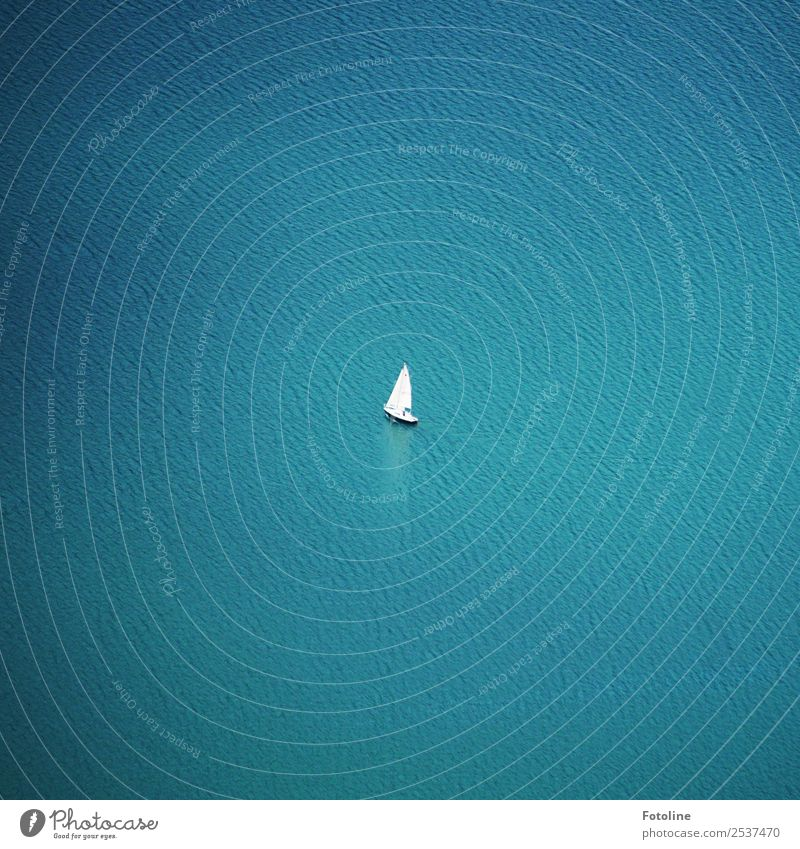 solitary Environment Nature Elements Water Waves Ocean Lake Far-off places Free Small Wet Natural Blue White Watercraft Sailing ship Boating trip Freedom