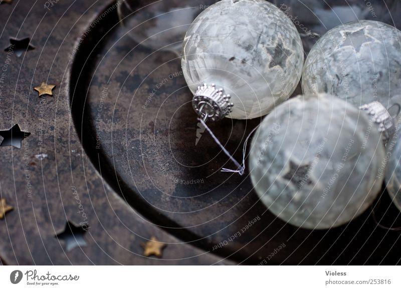 Christmas & Advent White Black Feasts & Celebrations Decoration Kitsch Sphere Glitter Ball Christmas decoration