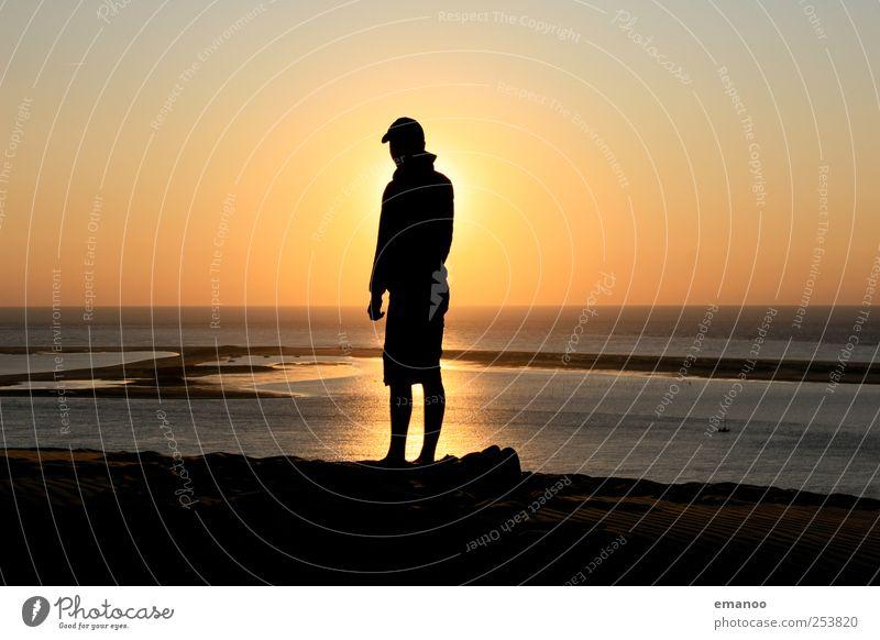 Human being Water Sun Ocean Vacation & Travel Summer Joy Beach Black Loneliness Freedom Style Coast Weather Waves Horizon