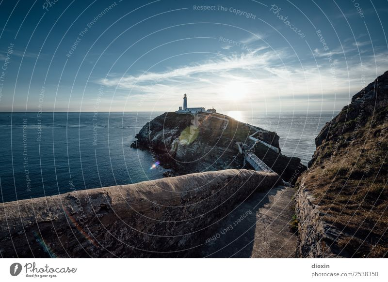 South Stack Lighthouse Vacation & Travel Tourism Trip Far-off places Freedom Ocean Island Environment Nature Landscape Water Sun Sunrise Sunset Mountain Coast