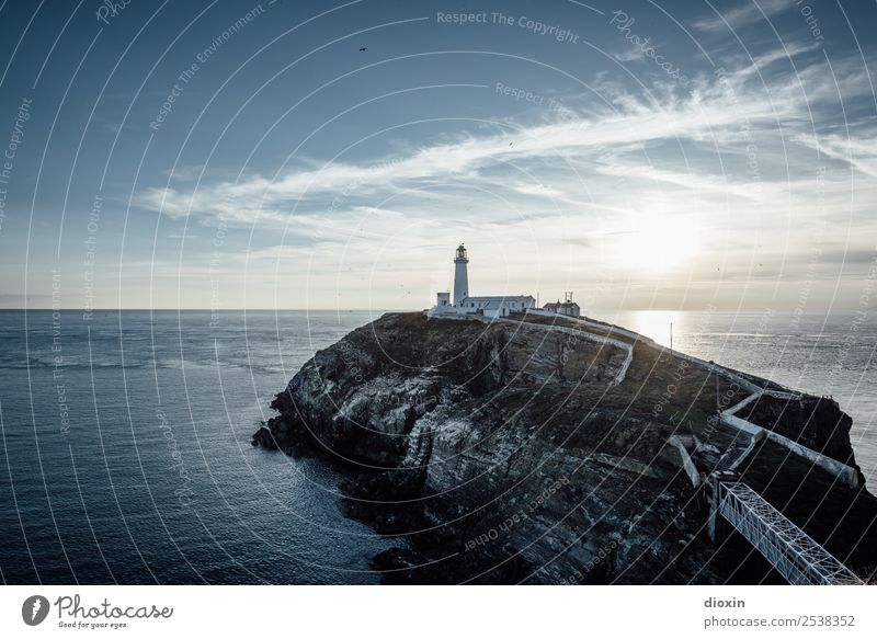 South Stack Lighthouse Vacation & Travel Tourism Adventure Far-off places Summer Sun Ocean Island Waves Environment Nature Landscape Elements Earth Water Sky