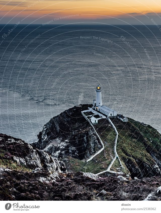 South Stack Lighthouse Vacation & Travel Tourism Adventure Far-off places Freedom Sightseeing Summer Ocean Island Waves Sunrise Sunset Coast Atlantic Ocean