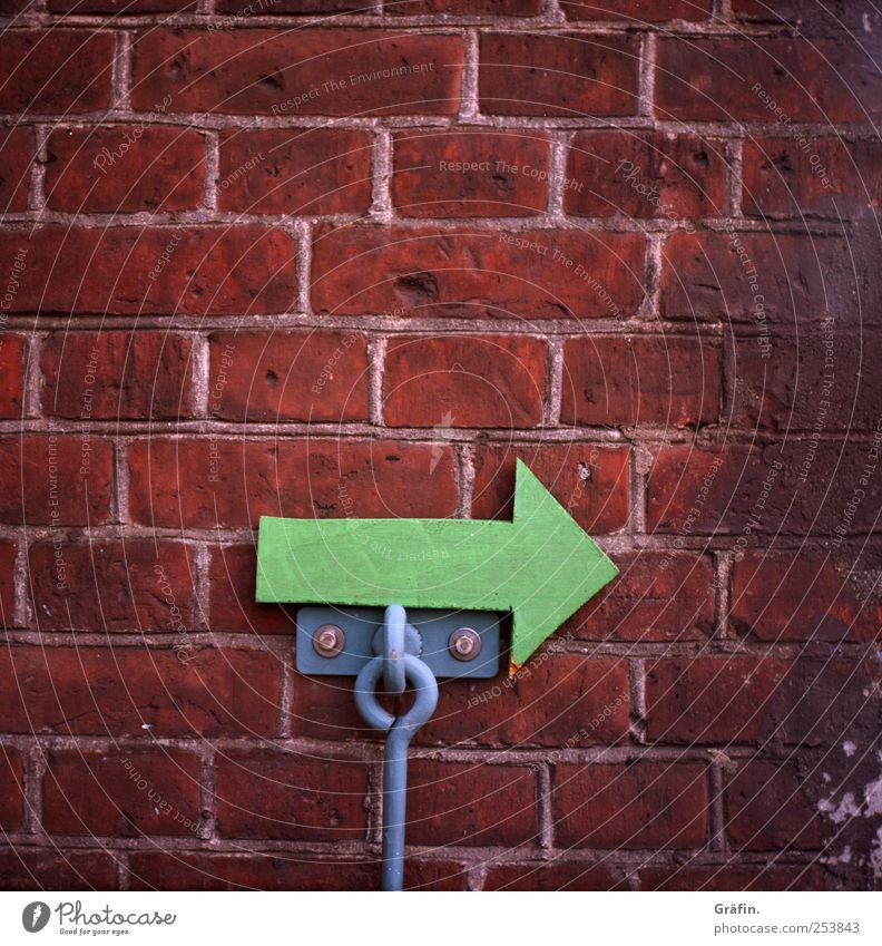 Green Red House (Residential Structure) Wall (building) Wood Wall (barrier) Stone Perspective Signage Arrow Direction Clue Warning sign Trend-setting
