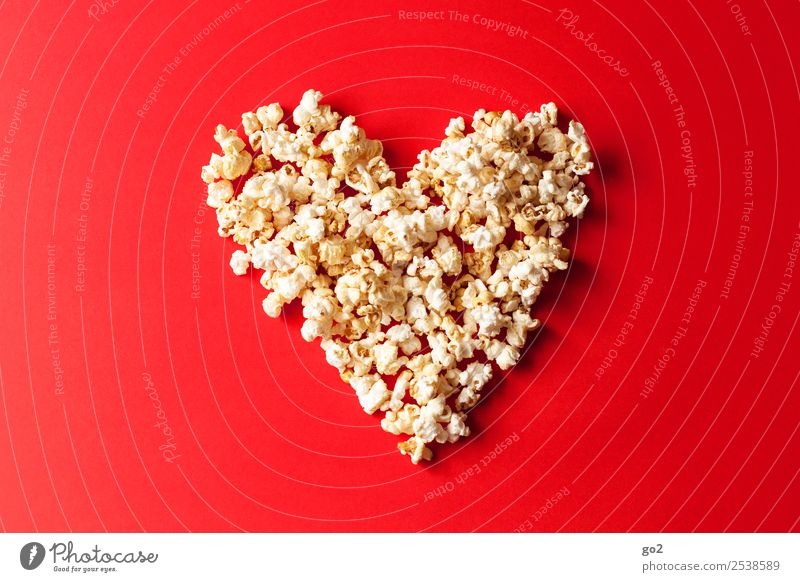 Popcorn Love Candy Nutrition Feasts & Celebrations Valentine's Day Mother's Day Wedding Birthday Cinema Sign Heart Delicious Sweet Red Emotions Joy Happy