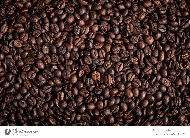 From above coffee beans textured background Grain Breakfast Coffee Lifestyle Love Dark Fresh Hot Delicious Natural Brown Energy Colour arabica Aromatic barista