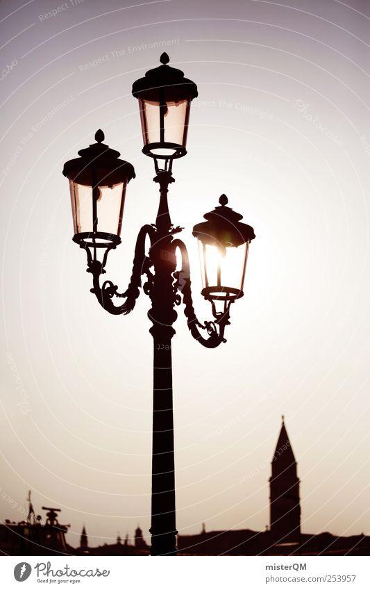 Threesome. Art Esthetic Contentment Calm Town Venice Port City Campanile San Marco Veneto Lantern Lamp post Lighting Idyll Remote Peaceful Hope Wake up Timeless