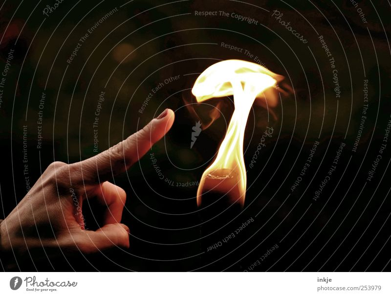 Play with the fire... Leisure and hobbies Playing Life Hand Fingers Fire Warmth Flame Touch Dark Hot Bright Emotions Moody Brave Self Control Curiosity Interest