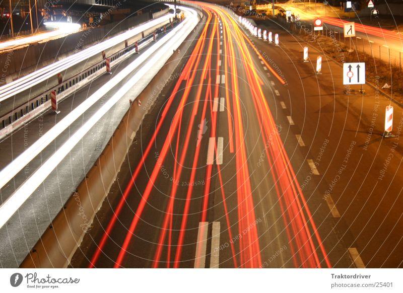 Transport Highway Floodlight Lane change
