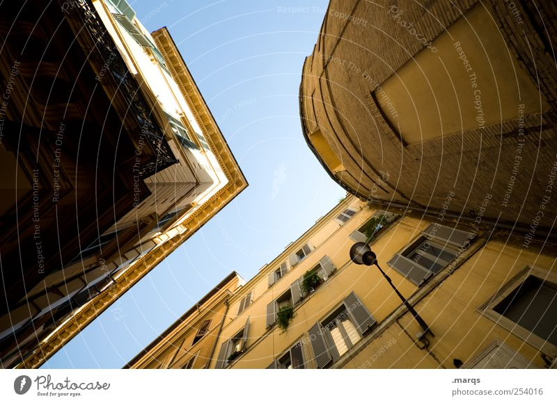 House (Residential Structure) Window Architecture Building Facade Tall Large Esthetic Living or residing Round Simple Manmade structures Italy Rome Sharp-edged