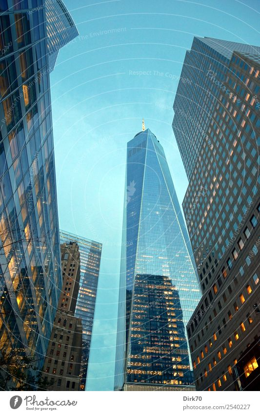 Vacation & Travel Business Tourism Exceptional High-rise Elegant Glass Success Perspective Threat Might Landmark Skyline City trip Downtown Sightseeing