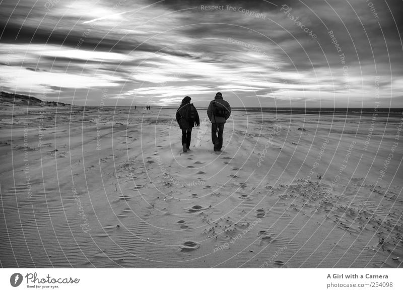 Human being Sky Nature Clouds Adults Environment Dark Life Landscape Sand Happy Couple Together Walking Wild Natural