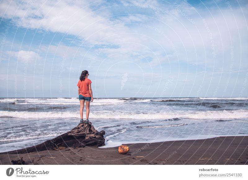 Caribbean sea in Tortuguero beach in Costa Rica Exotic Beautiful Vacation & Travel Summer Sun Beach Ocean Island Nature Landscape Sand Sky Tree Park