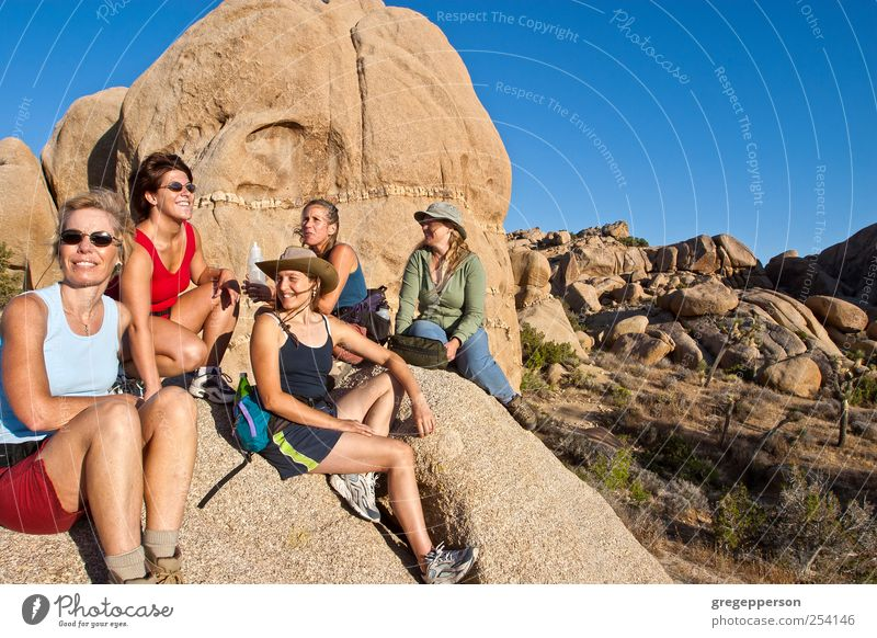 Group of women hiking. Life Adventure Hiking Sports Climbing Mountaineering Feminine Woman Adults Friendship 5 Human being 30 - 45 years Peak Athletic