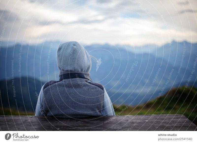 prospect Woman Adults Hiking To enjoy Mountain Vantage point Landscape Calm Relaxation Meditative Debauchery Break Adventure Vacation & Travel Far-off places