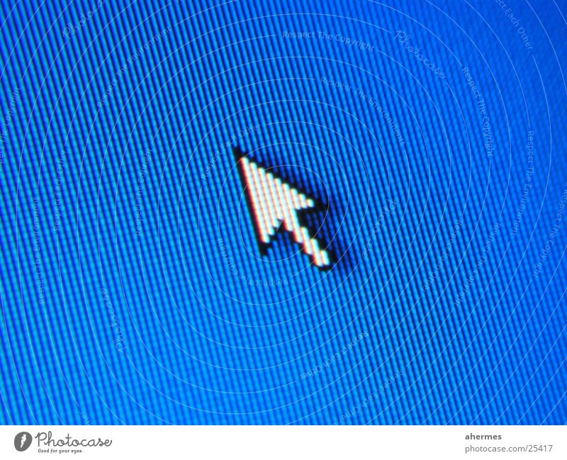 mouse Thin film transistor Pixel Desk Screenshot Electrical equipment Technology Macro (Extreme close-up) Blue Arrow cursor Detail Computer mouse
