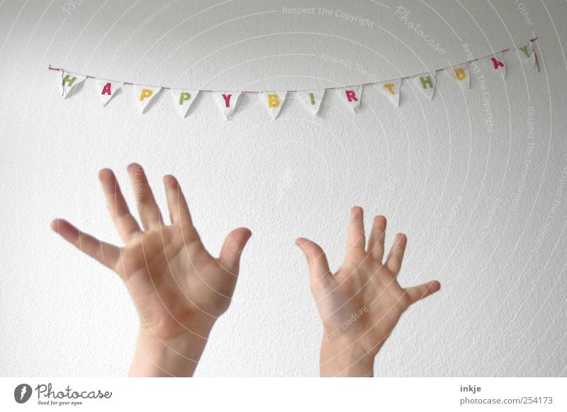 Human being Hand White Joy Life Wall (building) Emotions Above Movement Happy Party Moody Feasts & Celebrations Birthday Happiness Characters