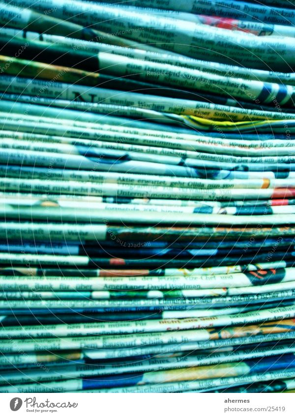 Blue Business Print media Paper Newspaper Sign Many Collection Stack Magazine Copy Space Text Printed Matter Abstract Management Waste paper