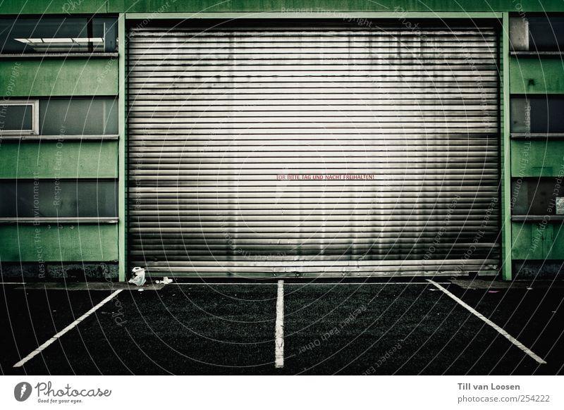 Jens Lehmann Wall (barrier) Wall (building) Window Door Traffic infrastructure Sign Dirty Green Black White Garage door Line Highway ramp (entrance) Dark Silver