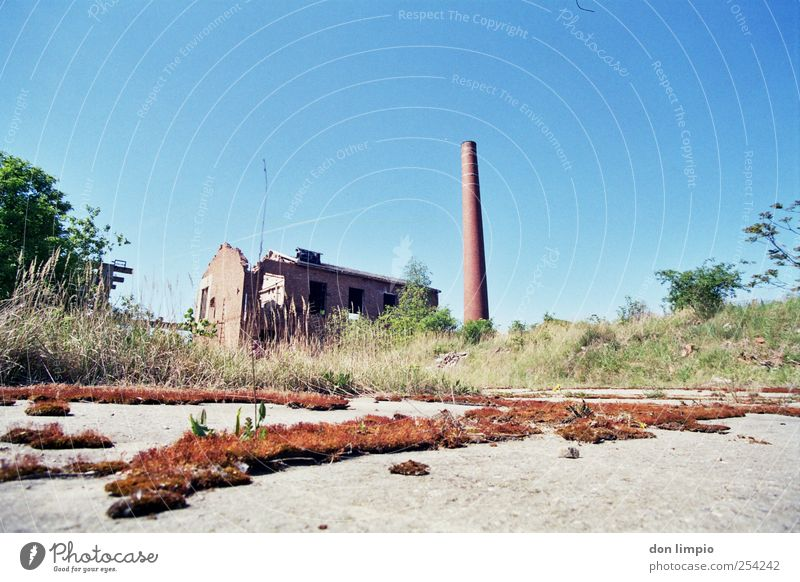 industrial ruin Economy Industry Deserted Industrial plant Factory Ruin Manmade structures Chimney To dry up Far-off places Apocalyptic sentiment Crisis
