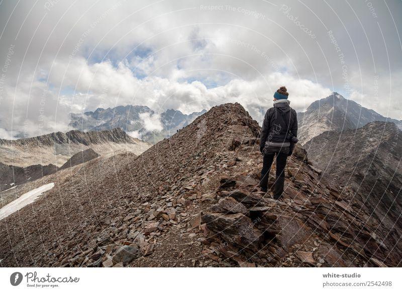 Welcome Mordor Woman Adults Hiking Peak Mountain Mountaineering Mountain ridge Climbing Adventure Threat Vantage point Panorama (View) Hohen Tauern NP