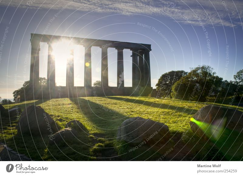 Stonehenge? Tourism Trip Sightseeing City trip Nature Hill Edinburgh Scotland Great Britain Europe Deserted Gate Manmade structures Architecture