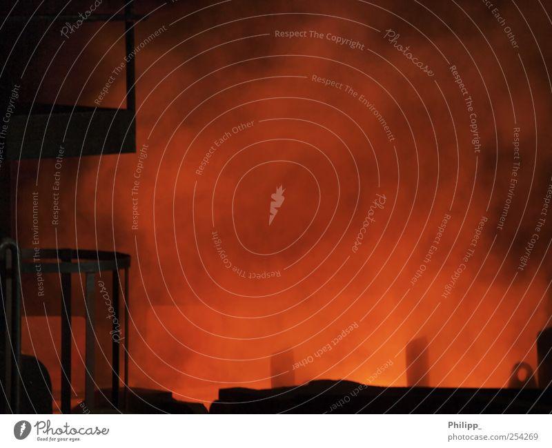 Colour Orange Fog Blaze Fire Industry Metalware Technology Hot Steel Haze Steam Industrial plant Advancement Furnace