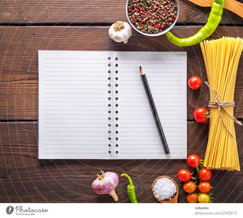 ingredients for pasta making Colour Red Black Eating Yellow Above Line Fresh Open Large Paper Herbs and spices Vegetable Tradition Baked goods Long