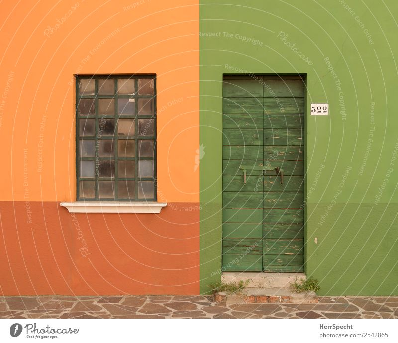 Town Green House (Residential Structure) Window Wall (building) Building Wall (barrier) Orange Facade Living or residing Door Closed Clean Digits and numbers