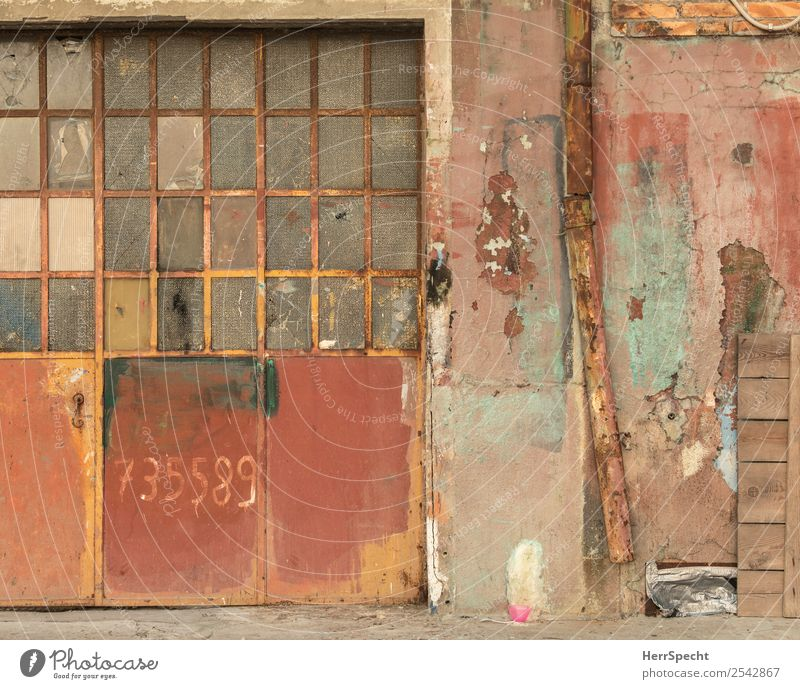 Old Town Red House (Residential Structure) Wall (building) Building Wall (barrier) Exceptional Door Gloomy Uniqueness Manmade structures Decline Rust Trashy