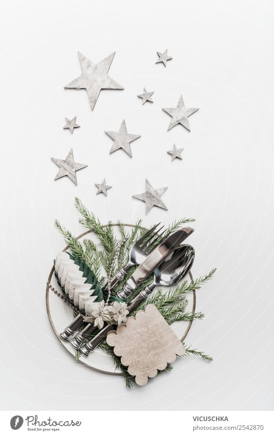 Christmas & Advent Winter Style Feasts & Celebrations Party Living or residing Design Nutrition Decoration Elegant Table Star (Symbol) Tradition Hip & trendy