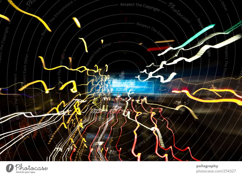 don't drink and drive Transport Motoring Traffic accident Street Highway Road sign Illuminate Tracer path Luminosity Alcohol-fueled Berlin Bans Dangerous Risk