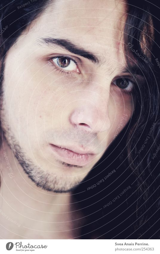 Inside to outside. Masculine Head Hair and hairstyles Face Eyes 1 Human being 18 - 30 years Youth (Young adults) Adults Brunette Long-haired Curl Looking