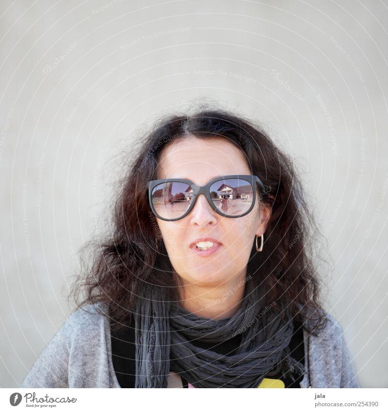 CHAMANSÜLZ | miss wayfarer Human being Feminine Woman Adults 1 Accessory Sunglasses Brunette Long-haired Smiling Beautiful Colour photo Exterior shot