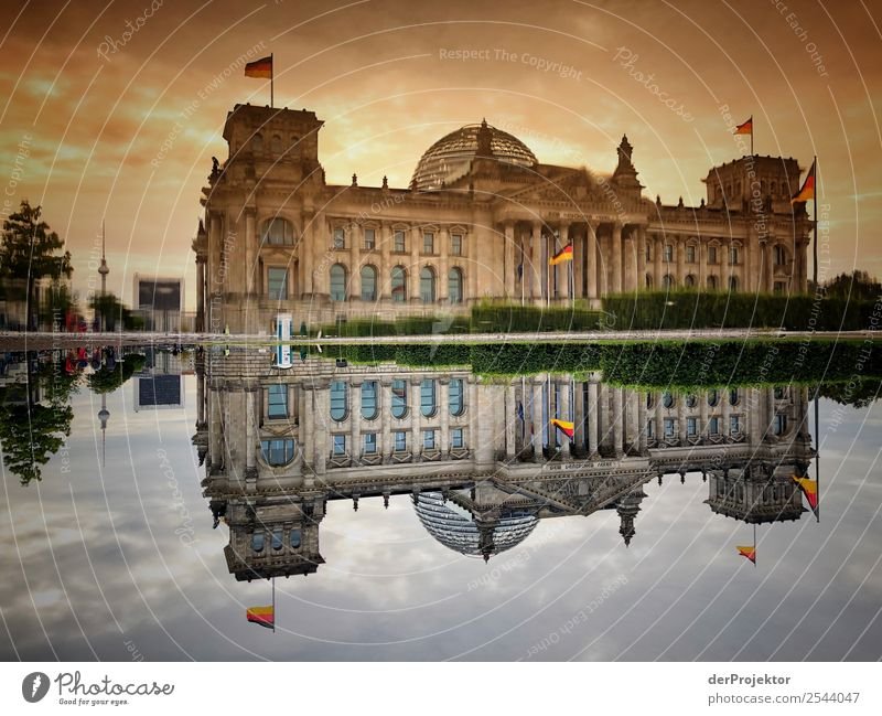 Vacation & Travel Old Summer Berlin Tourism Freedom Exceptional Trip Esthetic Authentic Threat German Flag Peoples Tourist Attraction Might Landmark