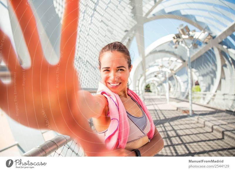 young woman runner Lifestyle Happy Sports Woman Adults Hand Smiling Authentic Modern Perspective pov immersive approachable Vantage point touch Gesture Runner