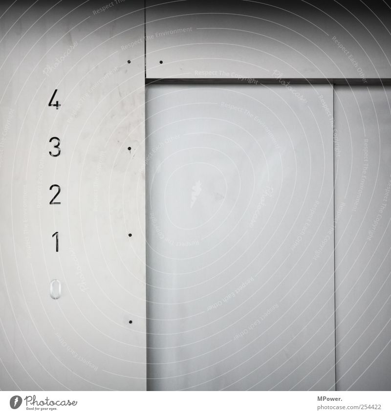 White 1 Cold 2 Door Elegant Concrete Modern 3 High-rise Esthetic Digits and numbers Bank building 4 Story Elevator
