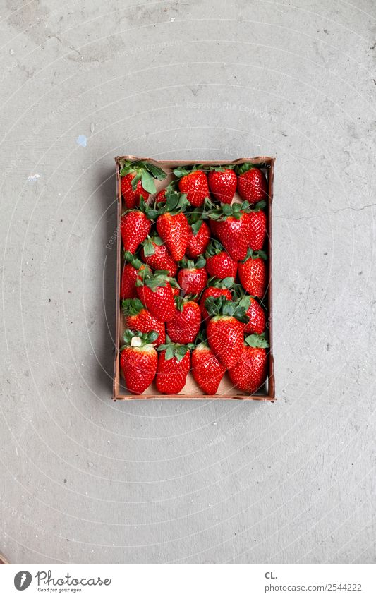 strawberries Food Fruit Strawberry Nutrition Eating Organic produce Vegetarian diet Diet Fasting Healthy Eating Summer Cardboard Ground Delicious Natural Sweet
