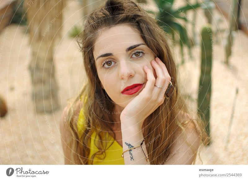 Portrait of bored teenager Lifestyle Style Design Exotic Vacation & Travel Young woman Youth (Young adults) 8 - 13 years Child Infancy 13 - 18 years Nature