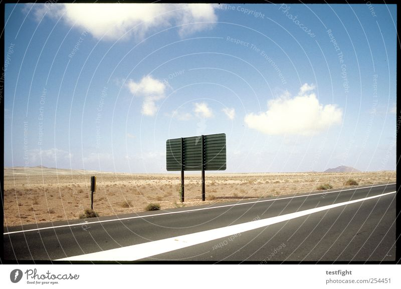 nice weather Vacation & Travel Tourism Far-off places Freedom Summer Environment Nature Landscape Earth Sand Sky Desert Traffic infrastructure Street Road sign