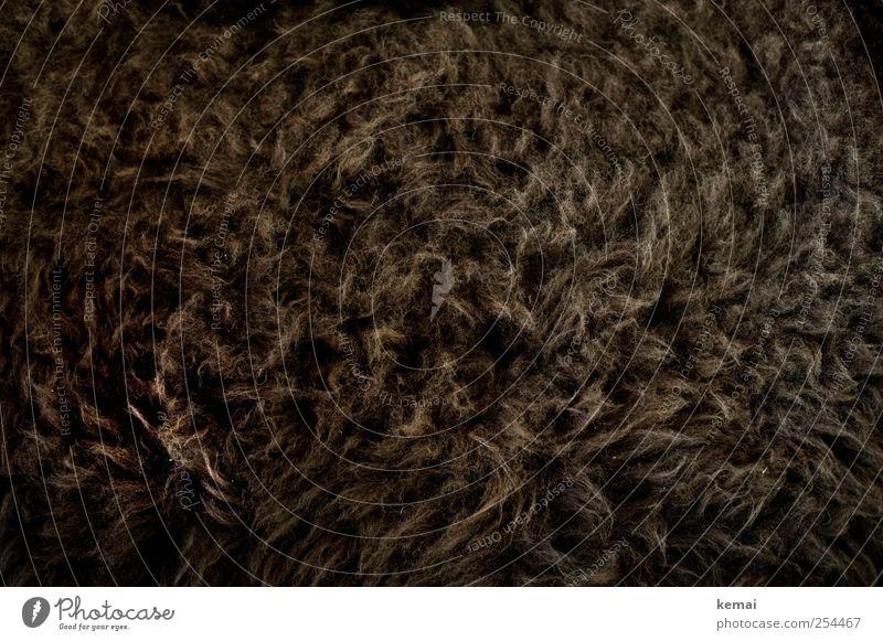 Dark Brown Soft Pelt Cuddly Wool Sheepskin