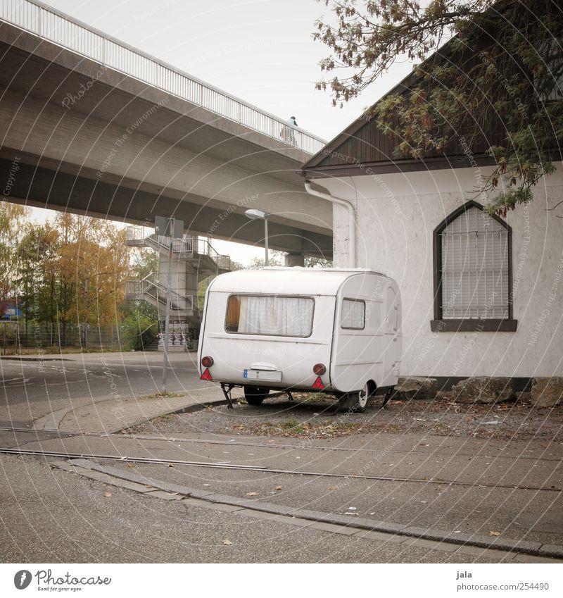 City House (Residential Structure) Street Places Bridge Gloomy Caravan