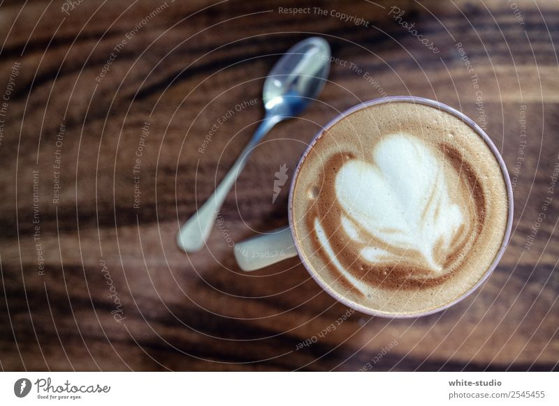 To enjoy Coffee Beverage Drinking To have a coffee Coffee break Latte macchiato Cappuccino Hot drink Teaspoon Coffee froth
